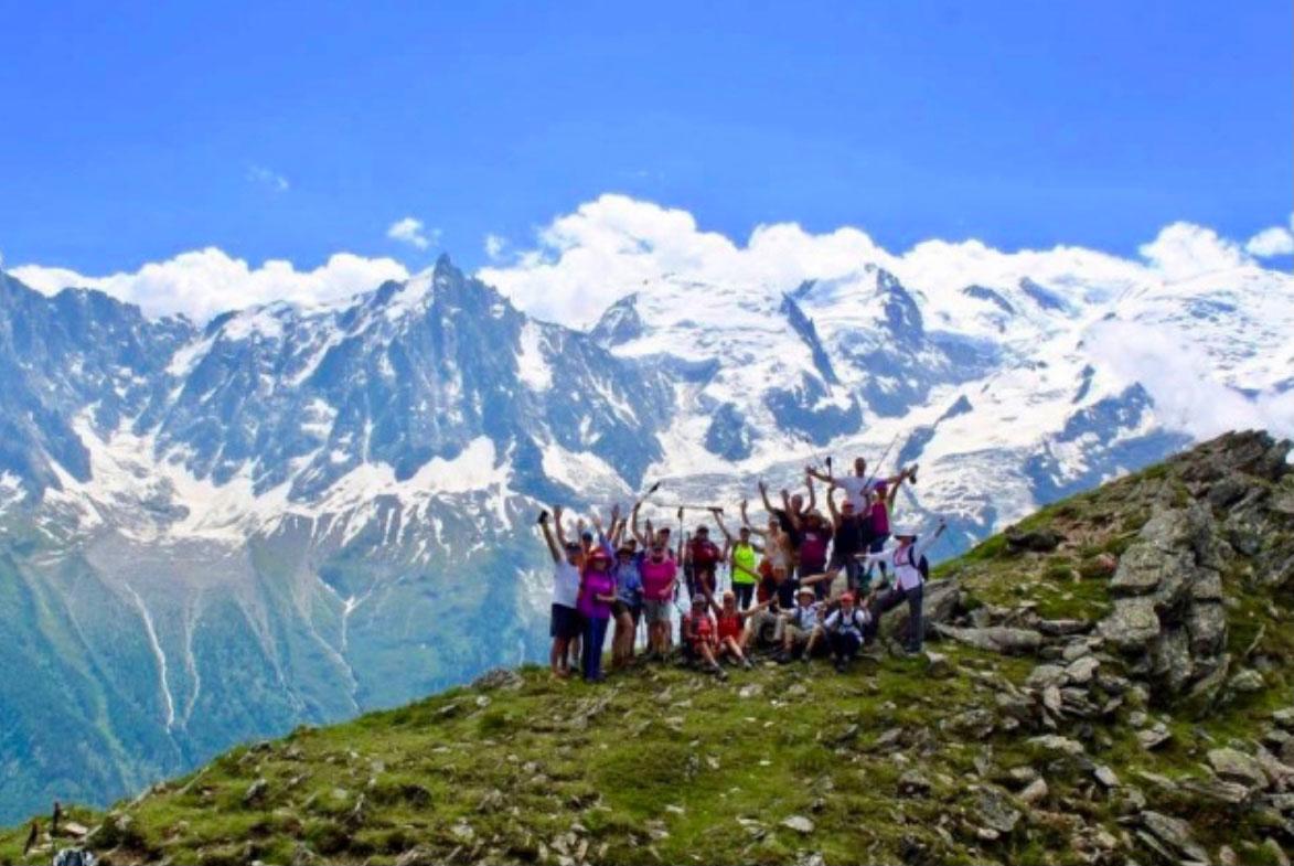 Alpine trek solo