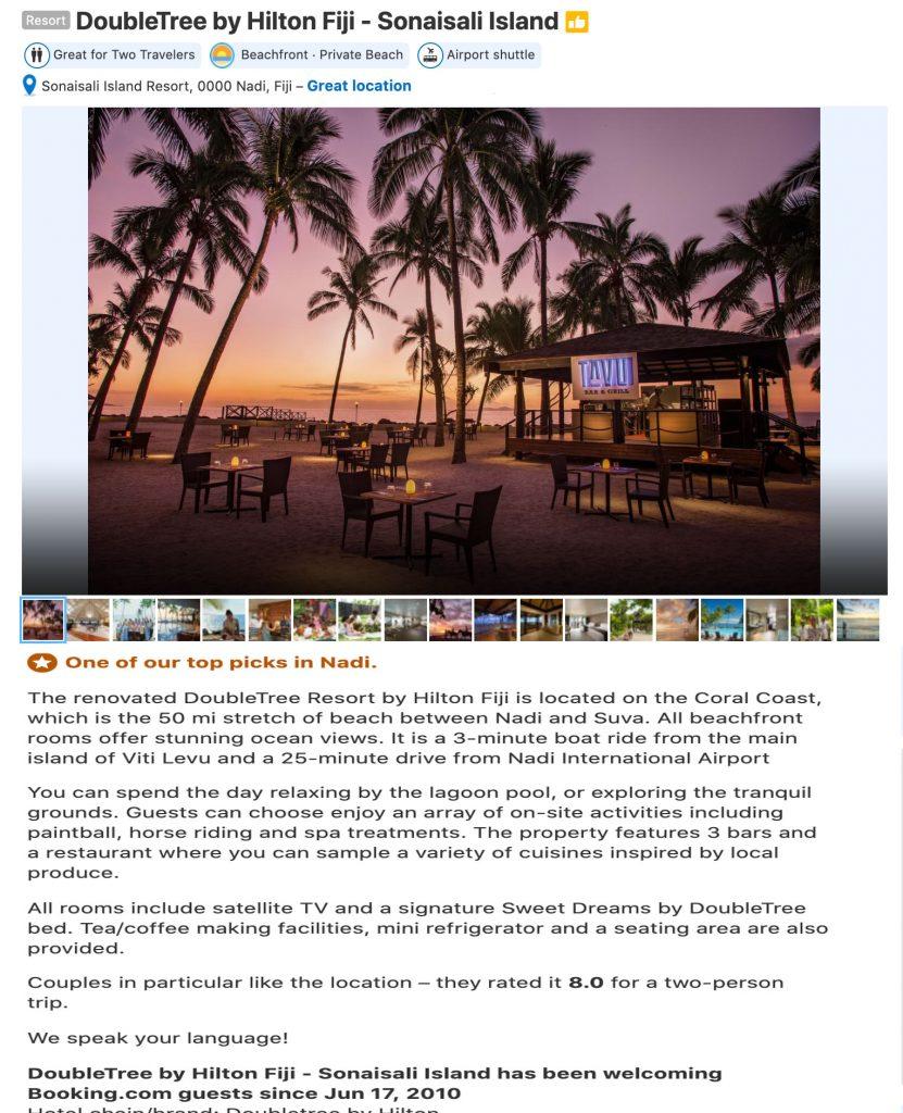 DoubleTree by Hilton Fiji - Sonaisali Island