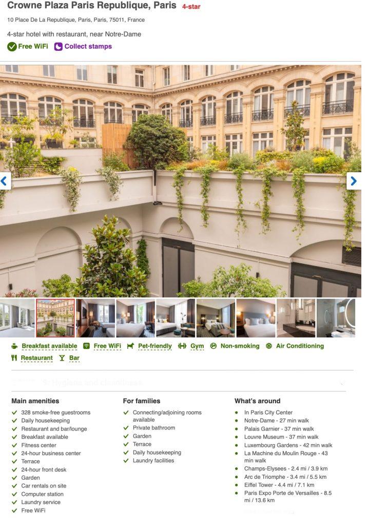 Hotel Crowne Plaza République
