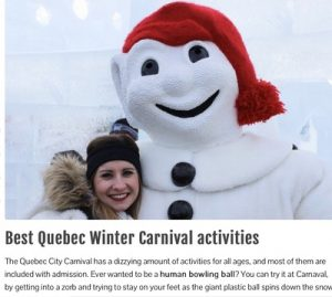 solo tour Quebec