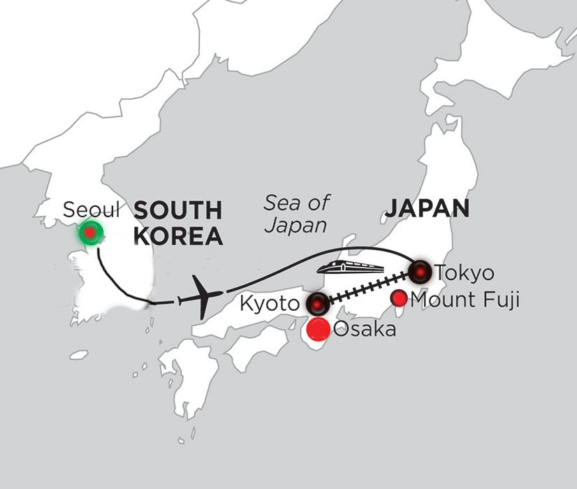 Solo tour map